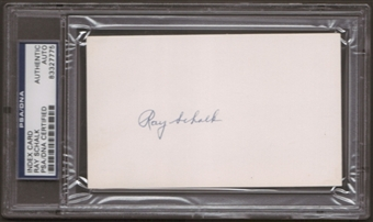 Ray Schalk Autograph (Index Card) PSA/DNA Certified *7775