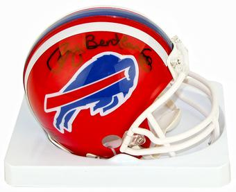 Ray Bentley Autographed Buffalo Bills Football Mini-Helmet