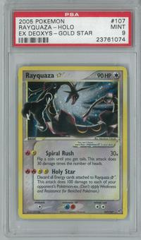 Pokemon EX Deoxys Rayquaza * Gold Star 107/107 PSA 9 MINT