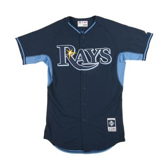 Tampa Bay Rays Majestic Navy BP Cool Base Performance Authentic Jersey (48)