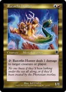 Magic the Gathering Apocalypse Single Razorfin Hunter FOIL