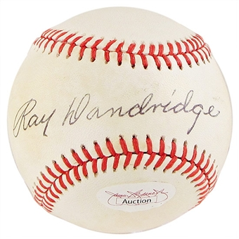 Ray Dandridge Autographed Official National League Baseball (PSA COA)