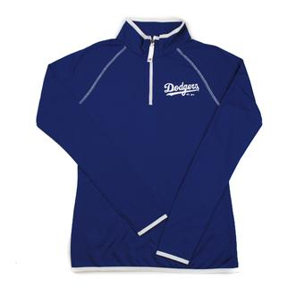 Los Angeles Dodgers Majestic Blue Pride & Tradition 1/4 Zip Performance Long Sleeve Tee Shirt