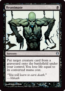 Magic the Gathering Archenemy Single Reanimate UNPLAYED (NM/MT)
