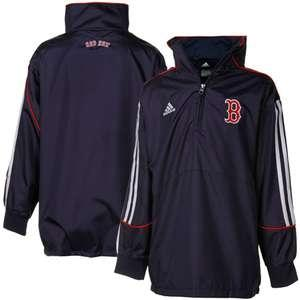 Boston Red Sox Adidas Navy 1/4 Zip Pullover Jacket (Youth Medium)