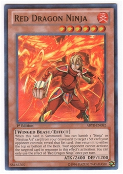 Yu-Gi-Oh Abyss Rising Single Red Dragon Ninja Super Rare