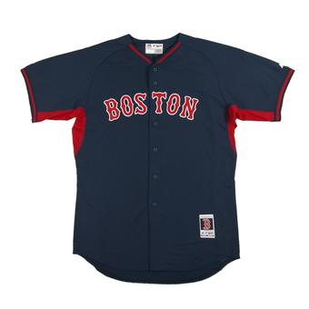Boston Red Sox Majestic Navy BP Cool Base Authentic Performance Jersey (Adult 44)
