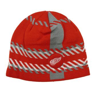 Detroit Red Wings Old Time Hockey Red Bolgar Beanie Knit Hat (Adult OSFA)