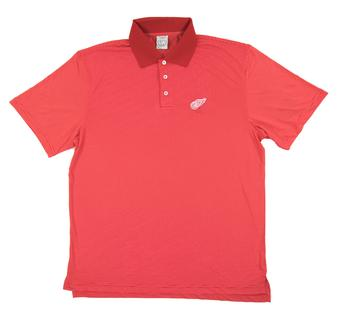 Detroit Red Wings Level Wear Dunhill Red Performance Polo (Adult X-Large)