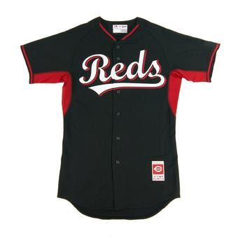 Cincinnati Reds Majestic Black BP Cool Base Authentic Performance Jersey (Adult 48)