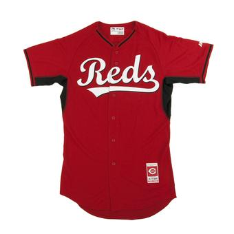 Cincinnati Reds Majestic Red BP Cool Base Authentic Performance Jersey (Adult 44)