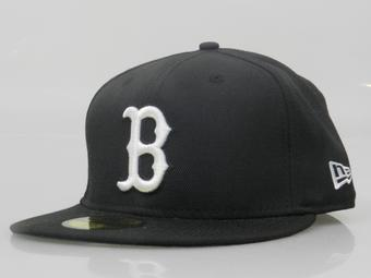 Boston Red Sox New Era 59Fifty Fitted Black Hat (7 1/8)