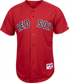 Boston Red Sox Majestic Red BP Replica Baseball Jersey (Adult Medium)