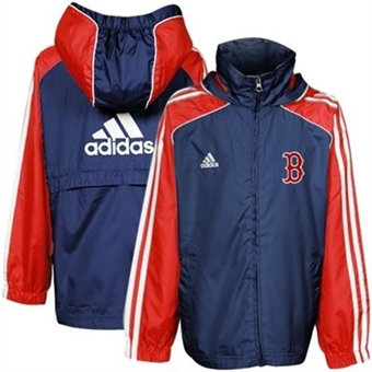 Boston Red Sox Adidas Navy Travel Top Full Zip Jacket (Youth Large)