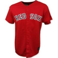 Boston Red Sox Majestic Red BP Replica Baseball Jersey (Youth Large)