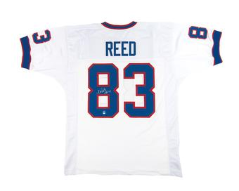 Andre Reed Autographed Buffalo Bills White Football Jersey HOF 14 (DACW)