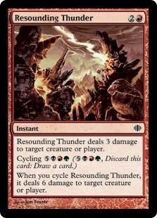 Magic the Gathering Shards of Alara Single Resounding Thunder Foil