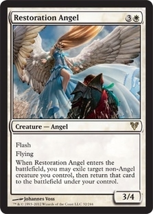 Magic the Gathering Avacyn Restored Single Restoration Angel Foil
