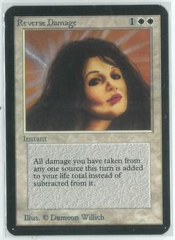 Magic the Gathering Alpha Single Reverse Damage -  NEAR MINT/SLIGHT PLAY (NM/SP)