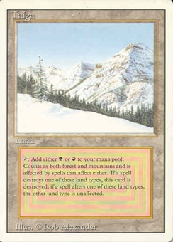Magic the Gathering 3rd Ed (Revised) Single Taiga - NEAR MINT (NM)
