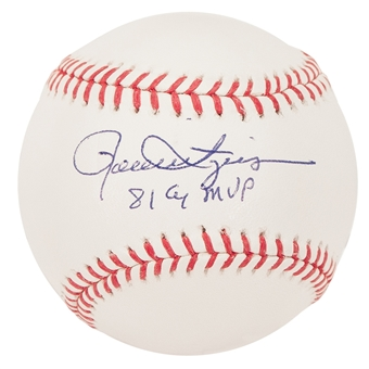 Rollie Fingers Autographed Oakland Athletics Official MLB Baseball w/81 CYMVP (Steiner)