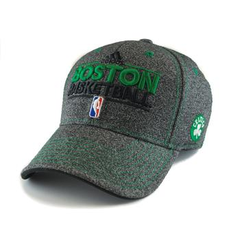 Boston Celtics Adidas NBA Grey Pro Shape Flex Fit Hat (Adult L/XL)