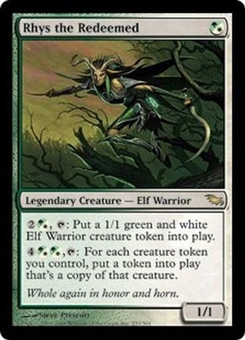 Magic the Gathering Shadowmoor Single Rhys the Redeemed FOIL - MODERATE PLAY (MP)