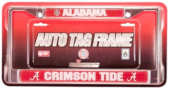 Rico Tag Alabama Crimson Tide Domed Chrome License Plate Frame