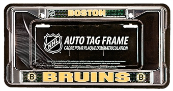Rico Tag Boston Bruins Domed Chrome License Plate Frame