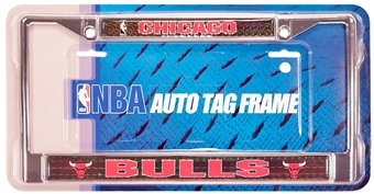 Rico Tag Chicago Bulls Domed Chrome License Plate Frame