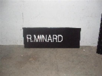 Ricky Minard 2004 NBA Draft Board Basketball Nameplate (One of a Kind!)
