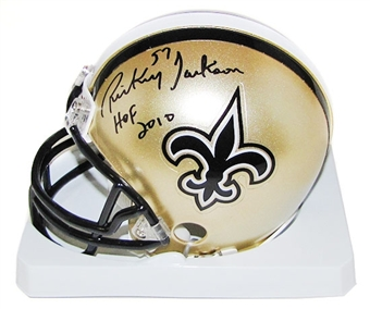 Rickey Jackson Autographed New Orleans Saints Mini Helmet