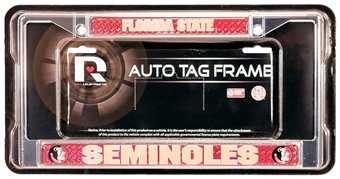 Rico Tag Florida State Seminoles Domed Chrome License Plate Frame