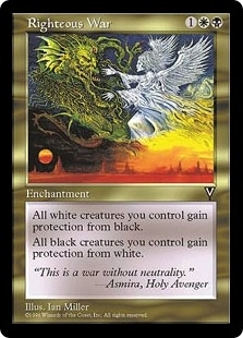 Magic the Gathering Visions Single Righteous War - NEAR MINT (NM)