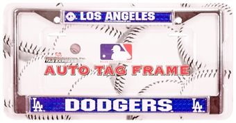 Rico Tag Los Angeles Dodgers Domed Chrome License Plate Frame