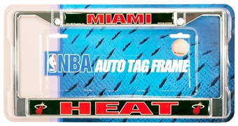 Rico Tag Miami Heat Domed Chrome License Plate Frame