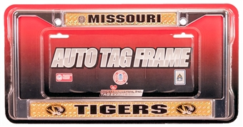 Rico Tag Missouri Tigers Domed Chrome License Plate Frame