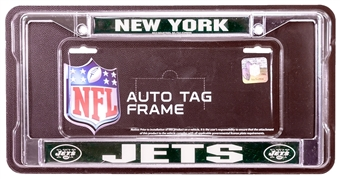 Rico Tag New York Jets Domed Chrome License Plate Frame