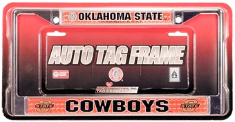 Rico Tag Oklahoma State Cowboys Domed Chrome License Plate Frame
