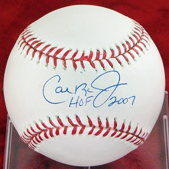 Cal Ripken Jr. Autographed Official Rawlings Hall of Fame Baseball