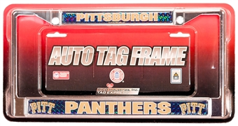 Rico Tag Pittsburgh Panthers Domed Chrome License Plate Frame