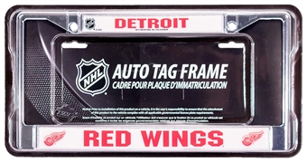 Rico Tag Detroit Red Wings Domed Chrome License Plate Frame