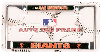 Rico Tag San Francisco Giants Domed Chrome License Plate Frame