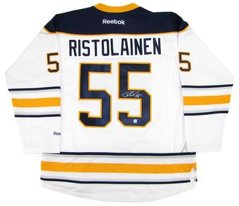 Rasmus Ristolainen Autographed Buffalo Sabres XL White Hockey Jersey
