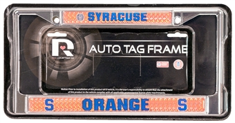 Syracuse Orangemen Chrome License Plate Frame - Regular Price $12.95 !!!