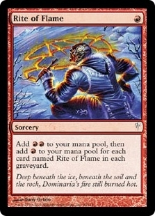 Magic the Gathering Coldsnap Single Rite of Flame - NEAR MINT (NM)