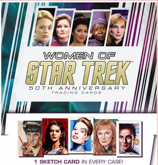 The Women of Star Trek 50th Anniversary Trading Cards 12-Box Case (Rittenhouse 2017) (Presell)
