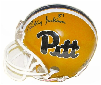 Rickey Jackson Autographed University of Pittsburgh Mini Helmet