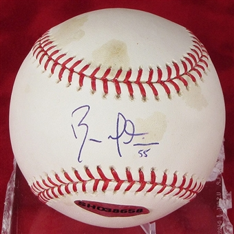 Russell Martin Autographed Baseball (Stained) (UDA COA)