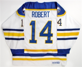 Rene Robert Autographed Buffalo Sabres Throwback White Jersey